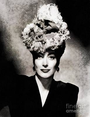Musicians Royalty-Free and Rights-Managed Images - Joan Crawford, Hollywood Legend by John Springfield by John Springfield