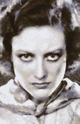 Musicians Royalty Free Images - Joan Crawford, Hollywood Legend by Mary Bassett Royalty-Free Image by Mary Bassett