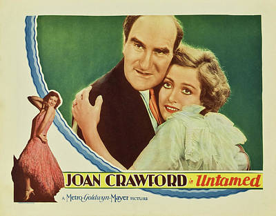 Classic Film Star Mixed Media - Joan Crawford In Untamed 1929 by Mountain Dreams