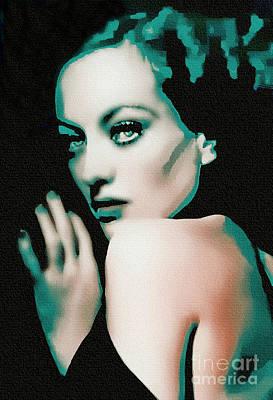 Joan Crawford - Pop Art Art Print