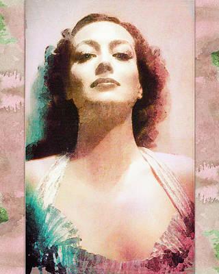 Digital Art - Joan Crawford - Watercolor by Darlanne