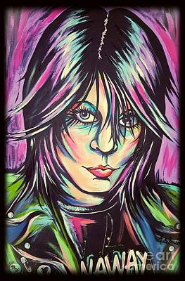 Joan Jett Art Print by Amy Belonio