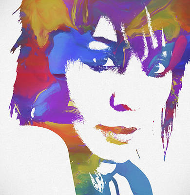 Music Paintings - Joan Jett by Dan Sproul