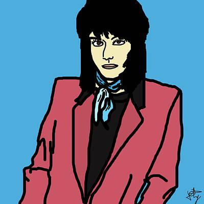Joan Jett Art Print by Jera Sky