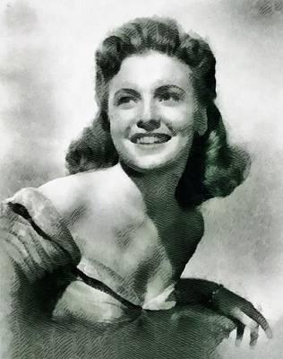 Joan Leslie, Actress Art Print by John Springfield