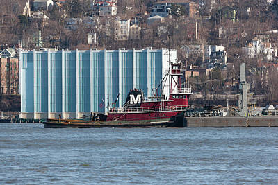 Joan Moran Tugboat On The Hudson River Art Print