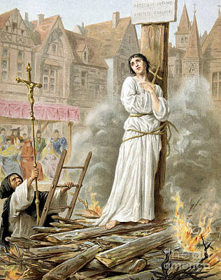 Painting - Joan Of Arc  French Heroine Of The Hundred Years' War by French School
