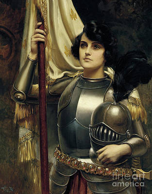 Warrior Woman Wall Art - Painting -  Joan Of Arc by Harold Hume Piffard