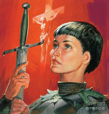 Holy Father Painting - Joan Of Arc by James Edwin McConnell