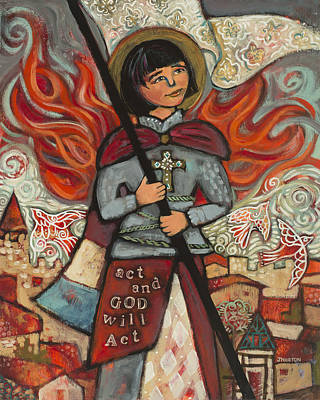 Confirmation Painting - Joan Of Arc by Jen Norton