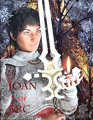 Painting - Joan Of Arc Poster 2 by Suzanne Silvir