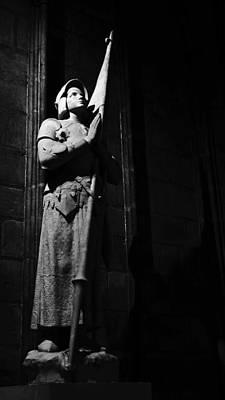 Photograph - Joan Of Arc Statue Notre Dame Paris by Lawrence S Richardson Jr