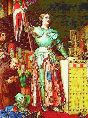 Joan Of Ark Art Print by D Fessenden