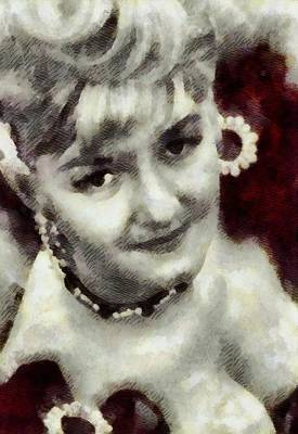 Joan Sims, Carry On Actress Print by John Springfield