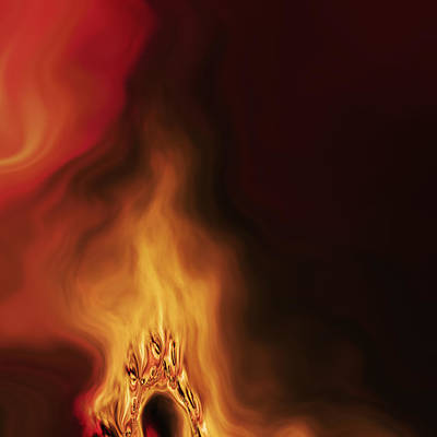 Burnt Digital Art - Joan by Vic Eberly