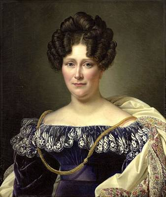 Dubois Painting - Joanna Genrietta Angela  by Jean Dubois
