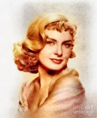 Joanne Woodward, Vintage Hollywood Actress Art Print by Frank Falcon