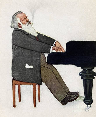 Painting - Johannes Brahms by Willy von Becherath