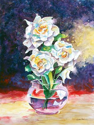 Gardenia Painting - Joan's Gardenias by Michael Prout