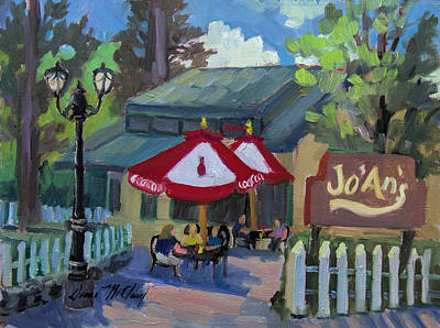 Jo'an's Restaurant In Idyllwild Art Print by Diane McClary