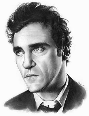 Phoenix Drawing - Joaquin Pheonix by Greg Joens