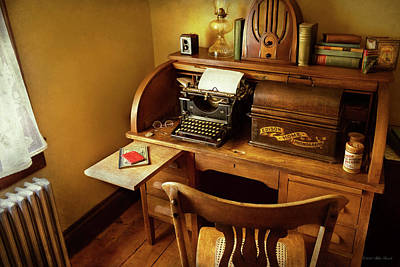 Photograph - Job - Typist - A Person With Many Interests by Mike Savad
