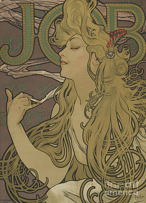 Tre Wall Art - Painting - Job Vintage Poster by Alphonse Marie Mucha