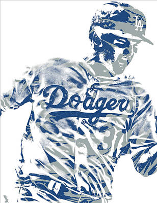 Mixed Media - Joc Pederson Los Angeles Dodgers Pixel Art 10 by Joe Hamilton