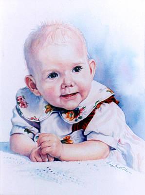Ontario Portrait Artist Painting - Jocies First Tooth by Hanne Lore Koehler