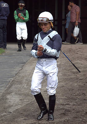 Photograph - Jockey Joel Rosario by  Newwwman