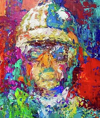 Painting - Jockey Portrait by Heather Roddy