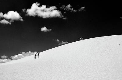 Photograph - Jockey's Ridge State Park # 4 - B And W by Allen Beatty