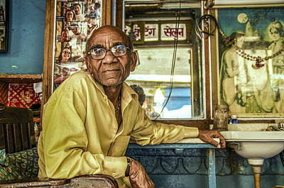 Photograph - Jodhpur Barber by Valerie Rosen