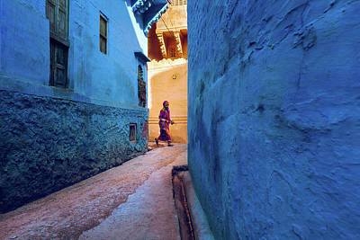 Streetshot Photograph - Jodhpur Colors by Marji Lang