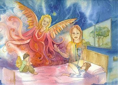 Painting - Jodie And The Angel by Donna Acheson-Juillet