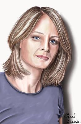 Jodie Foster Art Print by Eleni Bonou