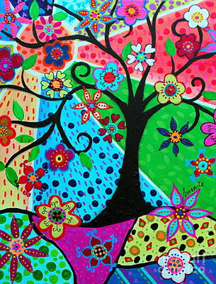 Painting - Jodi's Tree Of Life by Pristine Cartera Turkus