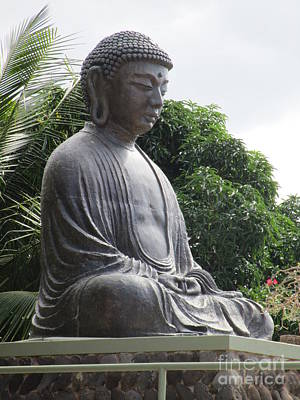 Lord Buddha Photograph - Jodo Mission Lahaina 6 by Randall Weidner