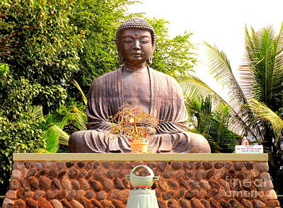 Lord Buddha Photograph - Jodo Mission Lahaina 8 by Randall Weidner