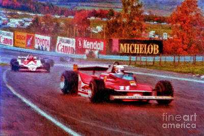 Photograph - Jody Scheckter Leads John Watson At Watkins Glen by Blake Richards