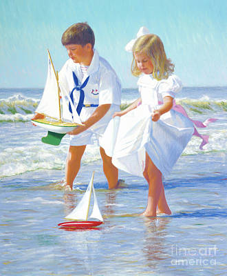 Painting - Joe And Sarah Sailing by Candace Lovely