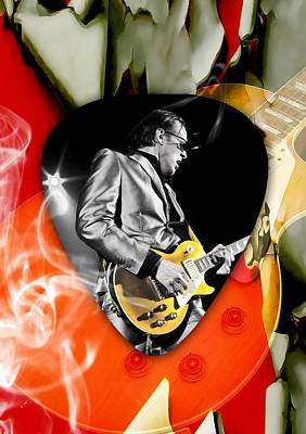 Mixed Media - Joe Bonamassa Blues Guitar Art by Marvin Blaine