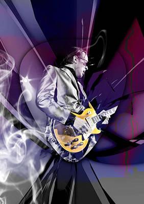 Mixed Media - Joe Bonamassa Blues Guitarist Art by Marvin Blaine