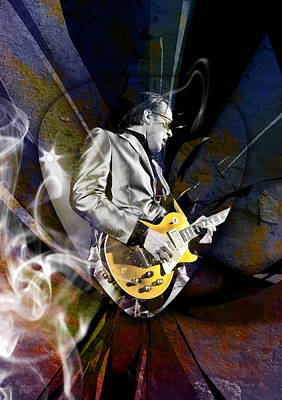 Mixed Media - Joe Bonamassa Blues Guitarist by Marvin Blaine