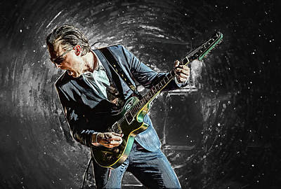 Music Digital Art - Joe Bonamassa by Taylan Apukovska