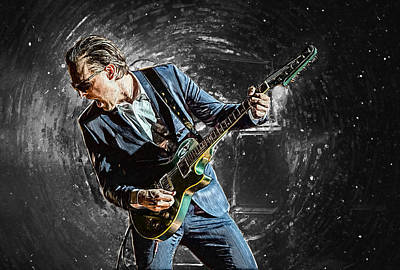 Party Digital Art - Joe Bonamassa by Taylan Apukovska