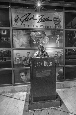Baseball Royalty-Free and Rights-Managed Images - Jack Buck Busch Stadium  by John McGraw