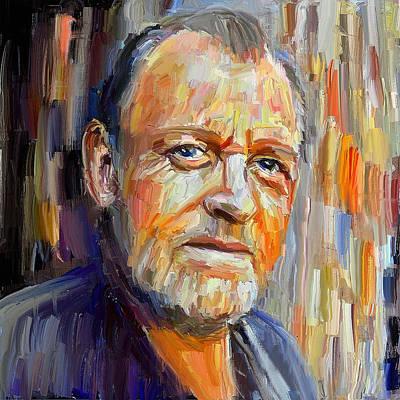 Digital Art - Joe Cocker Brush Portrait by Yury Malkov