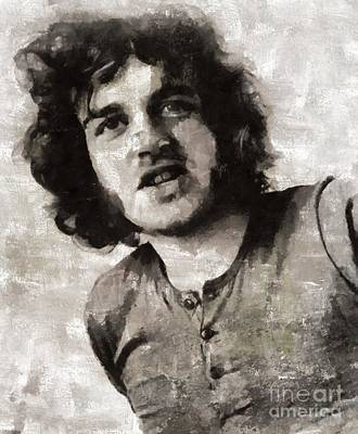 Music Paintings - Joe Cocker, Music Legend by Mary Bassett by Esoterica Art Agency