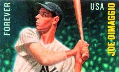 Joe Dimaggio Baseball Cards Painting - Joe Dimaggio by Lanjee Chee